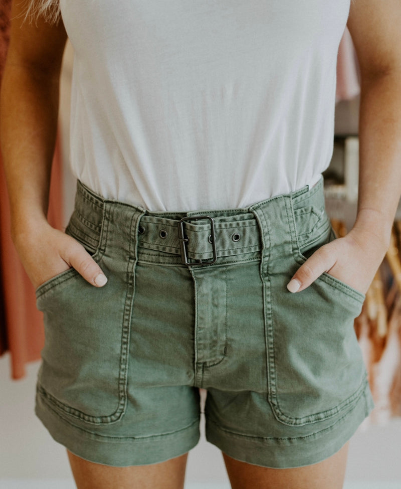 Talk To Me Shorts : Olive
