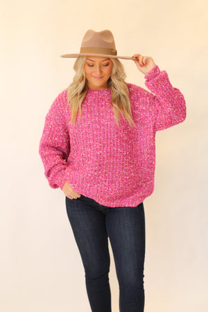 Know Everything Sweater : Hot Pink