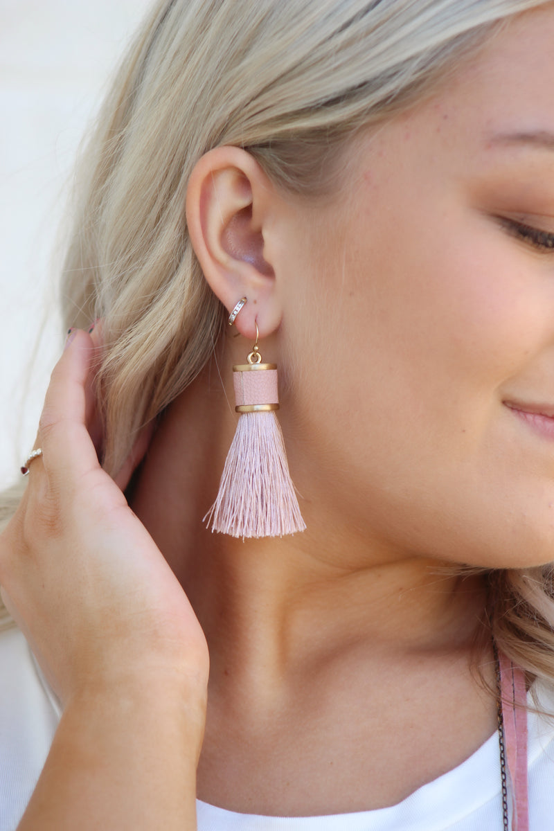 Could It Be Earrings : Blush