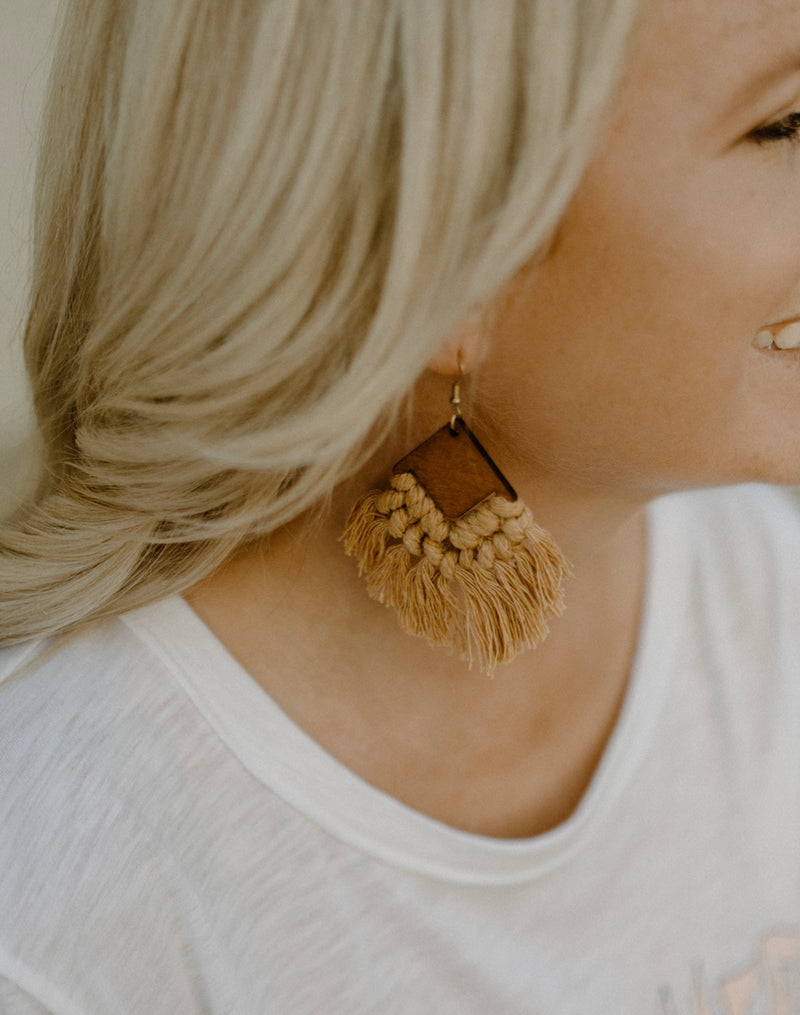 Boho Earrings : Mustard