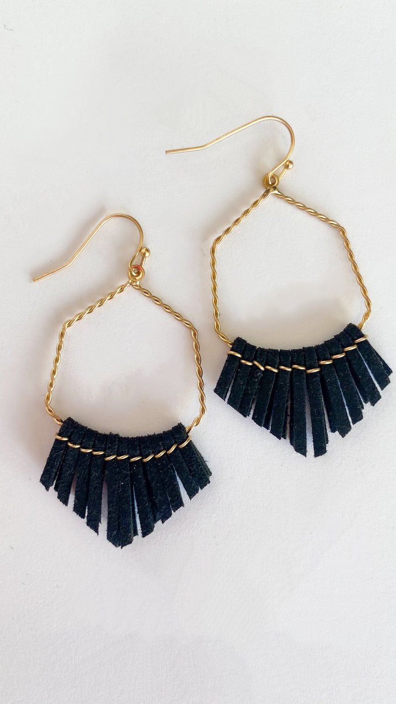 Be Enough Earrings : Black