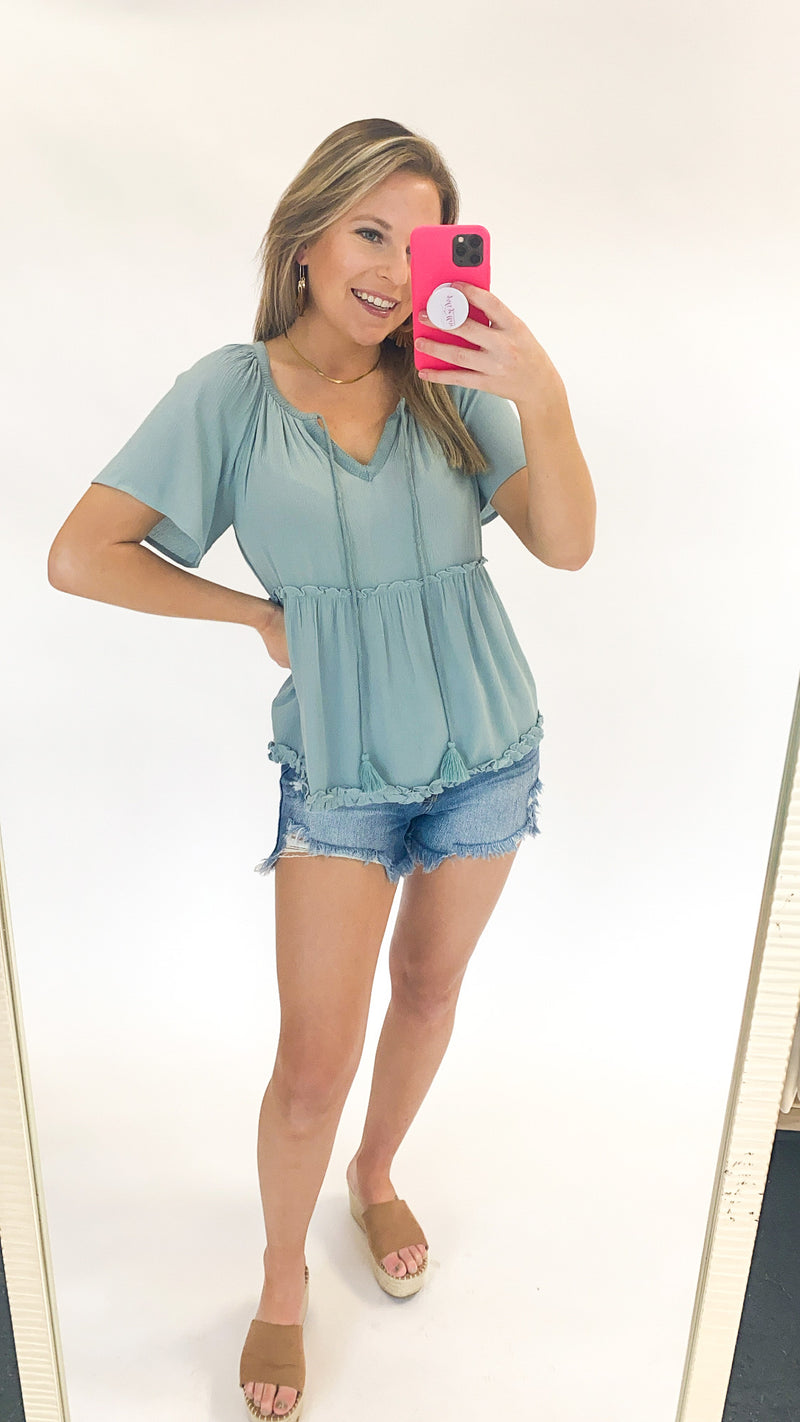 Dance Away Top : D Turquoise