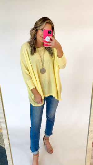 Take It Back Tunic : Lemon