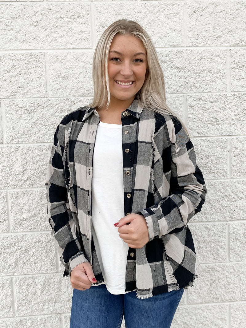 Never Again Flannel : Black