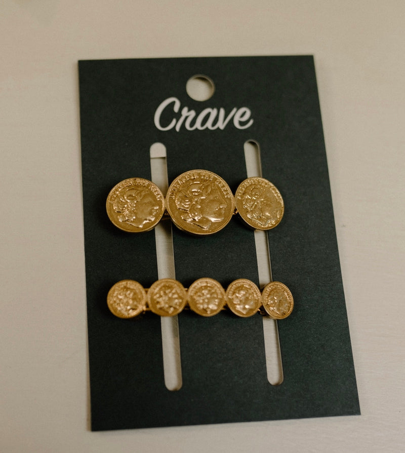 Coin Hair Pin Set
