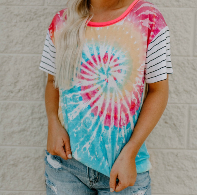 Give A Break Top : Tie Dye