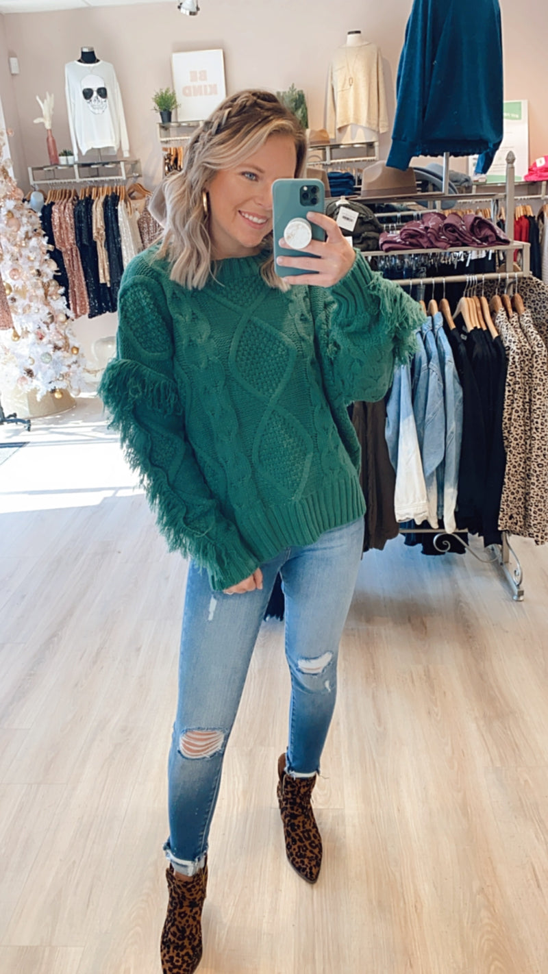Heart Ache Sweater : H Green