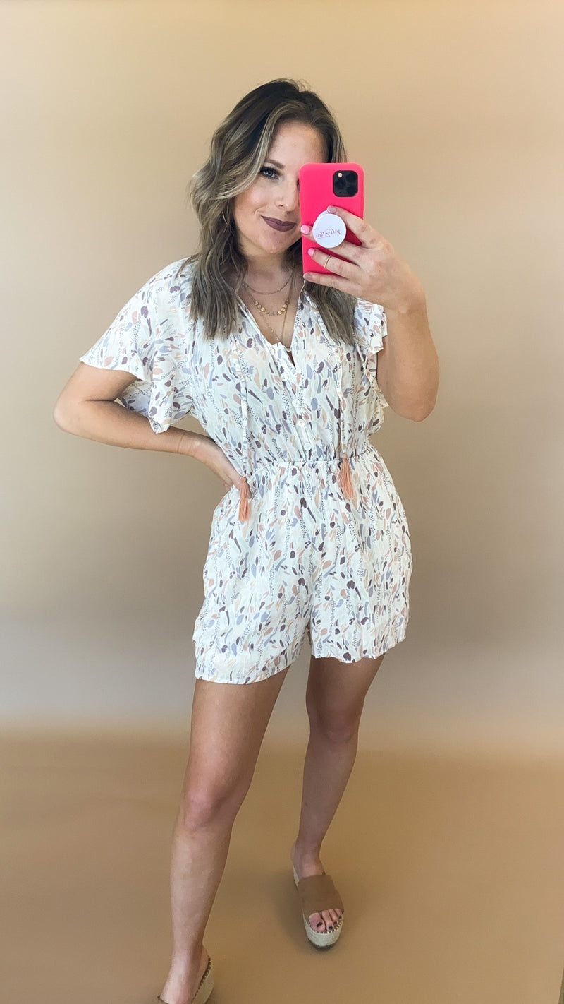 I Got You Romper : Off White
