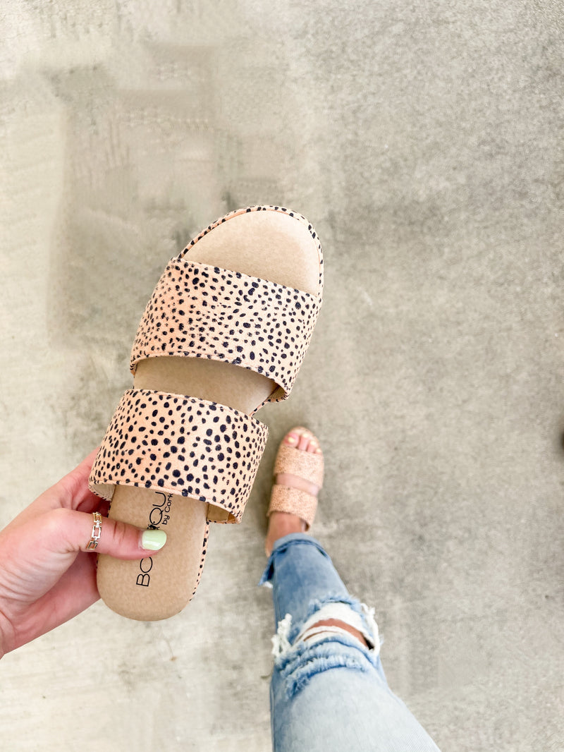 Shamrock Platform Sandals : Brown Speckle