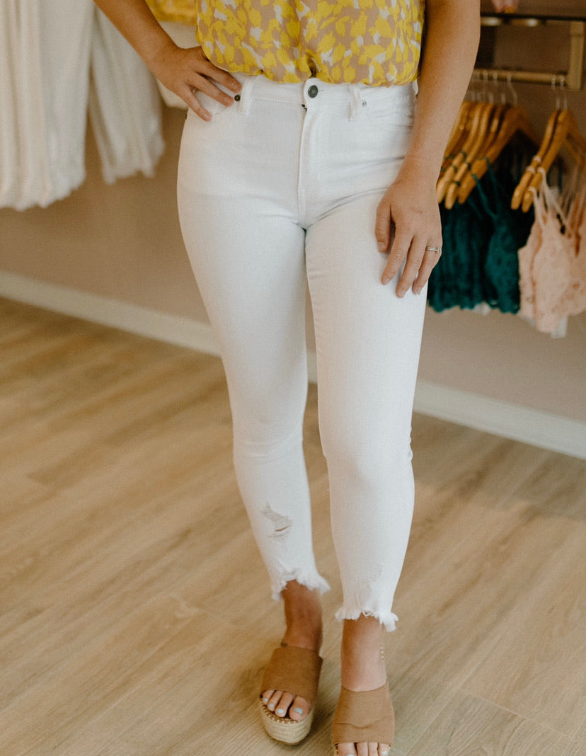 Don't Worry Skinny Jeans : White