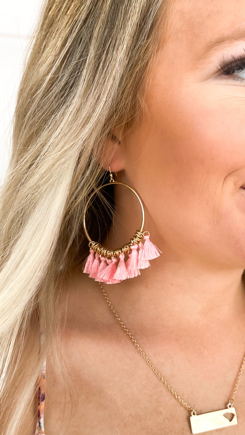My Baby Earrings : Coral