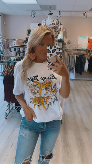 Floral Easy Tiger Tee : Ivory