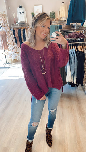 Darling Sweater : Magenta