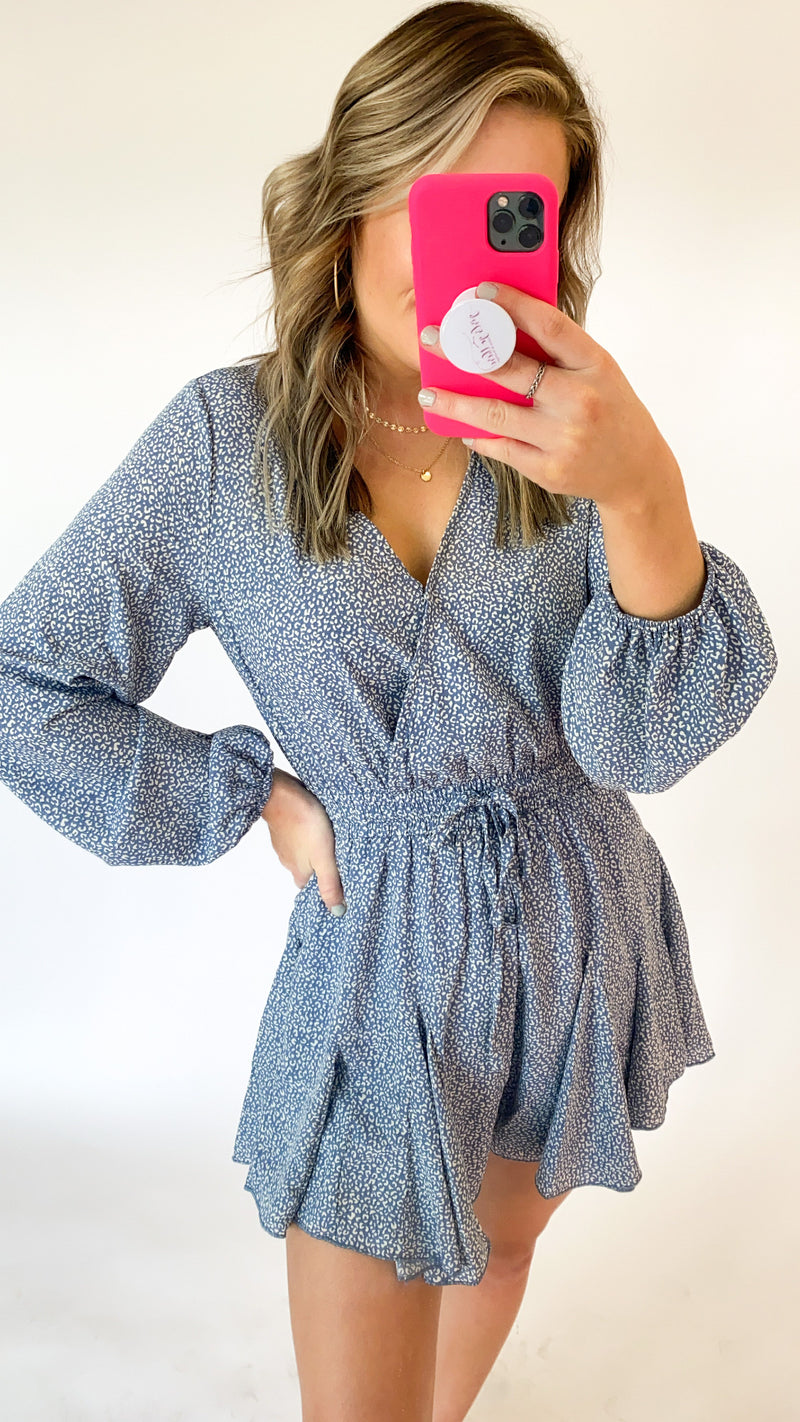 Waiting On Romper : Lt Blue