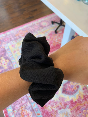Black Pouf Scrunchie