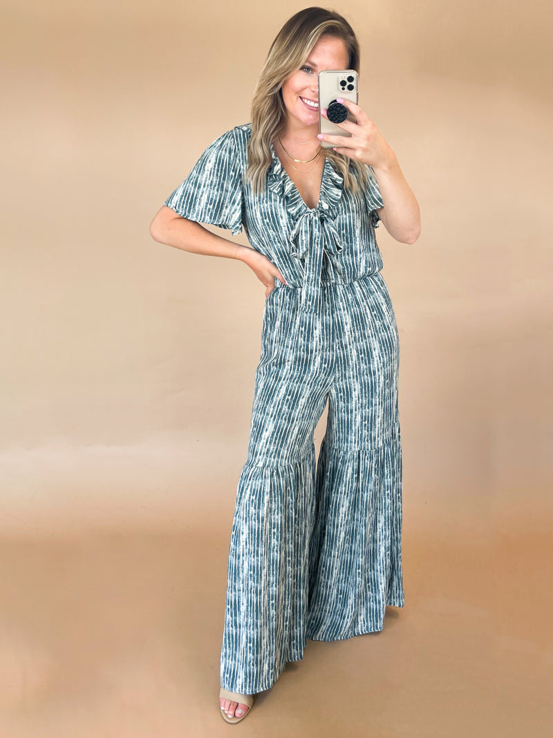 Out Of Touch Jumpsuit : Dk Sage