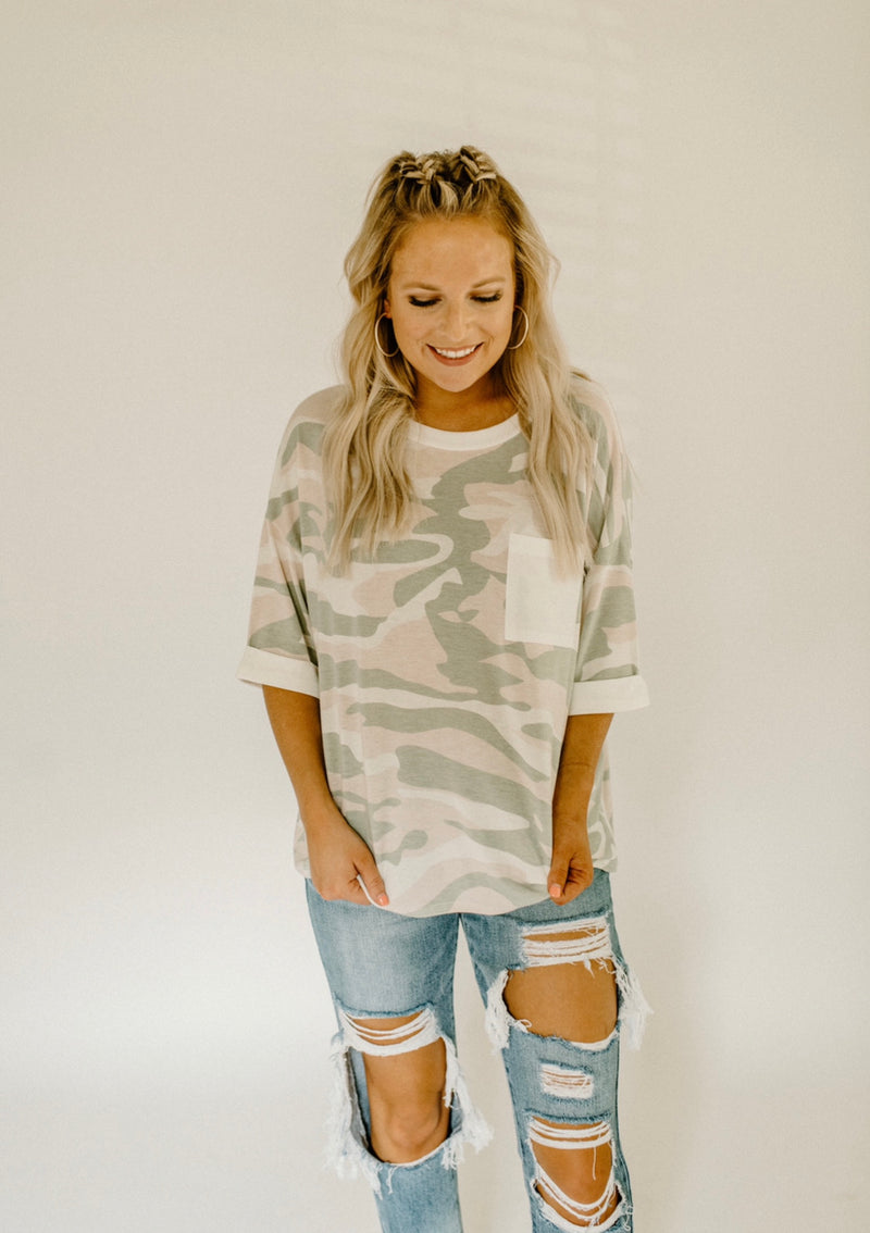 Rule Follower Top : Pink Camo