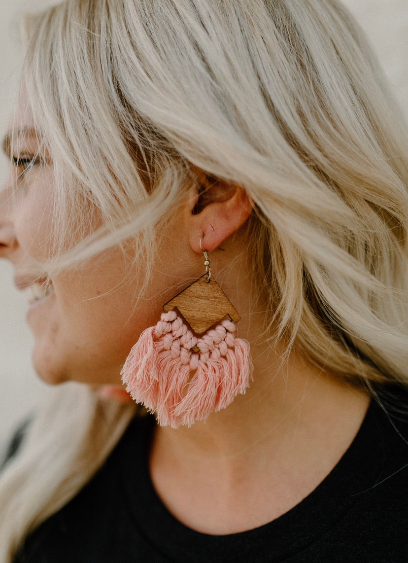 Boho Earrings : Peach