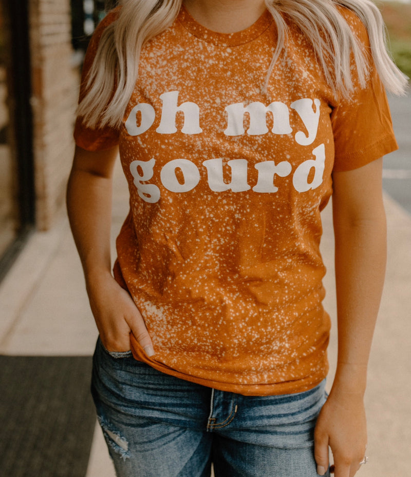 Oh My Gourd Distressed Tee