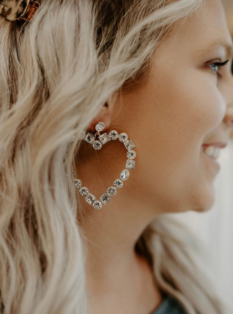 Glitz Heart Earrings