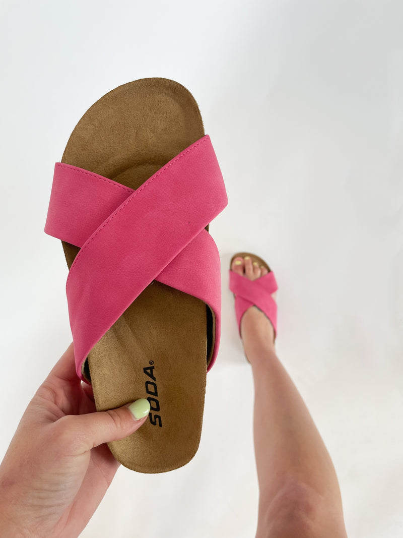 Want Another Sandals : Fuchsia