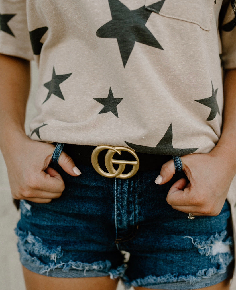 Matte GG Belt : Black