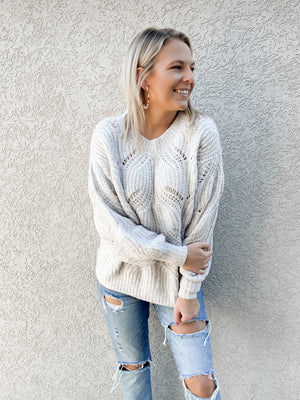 So Delightful Sweater : Lt Grey