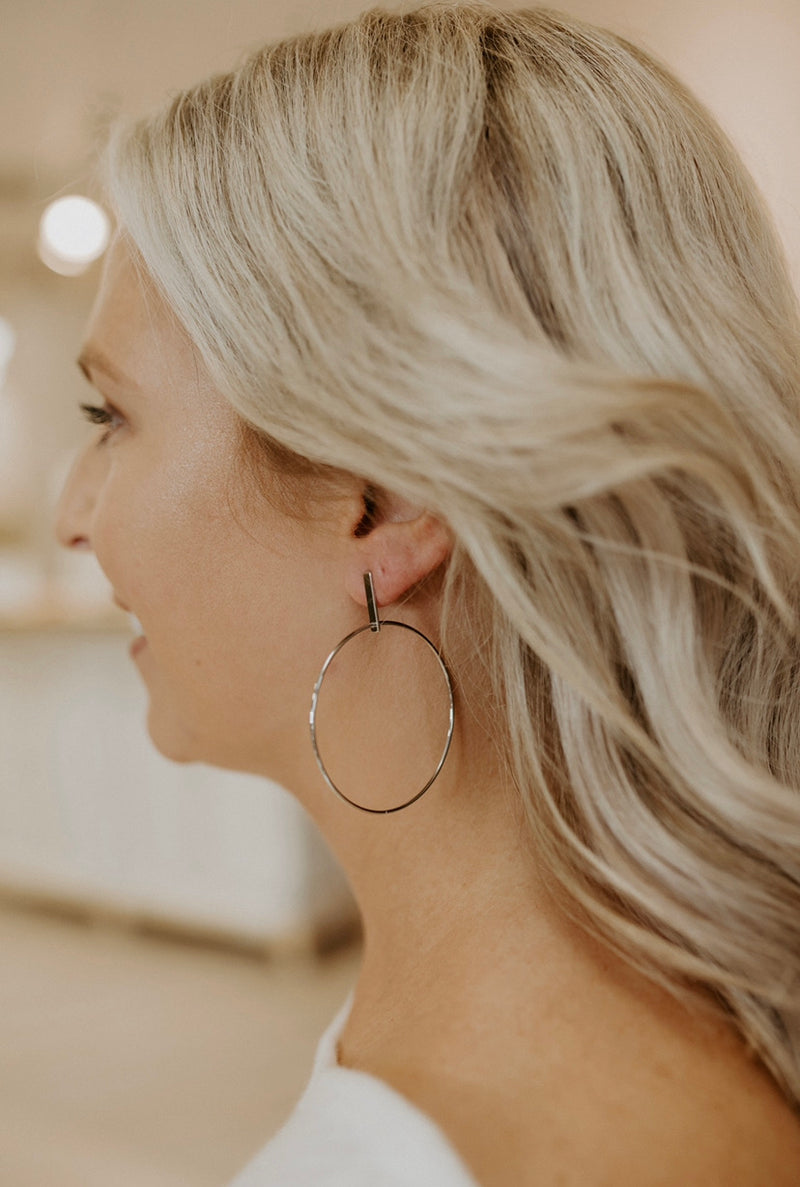 Work It Earrings : Silver