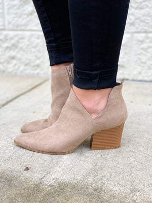 Heart Break Booties : Taupe