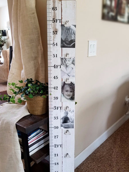 Wood Growth Chart with Picture Clips