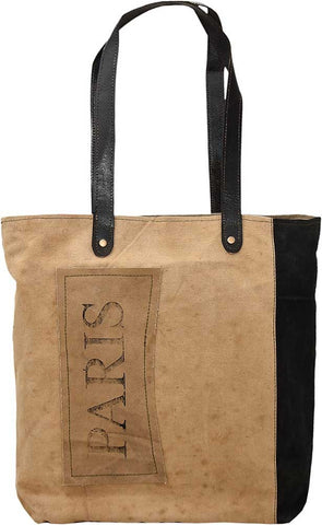 Paris Patch Two Tone Tote