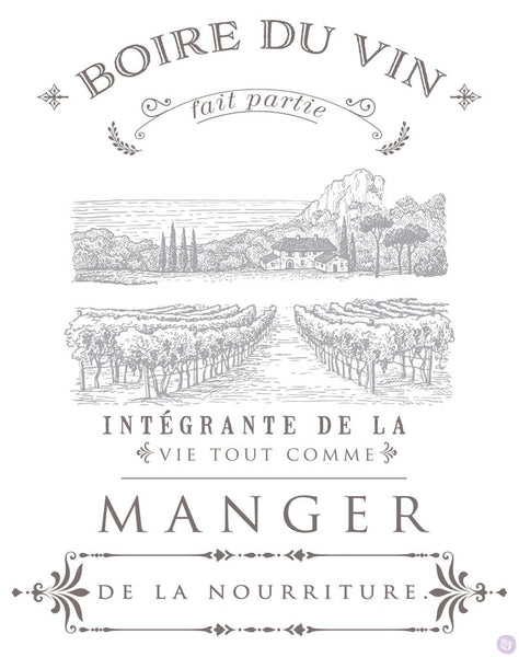 Boire Du Vin - Redesign By Prima Transfers