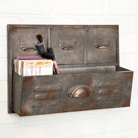 Galvanized Wall Caddy