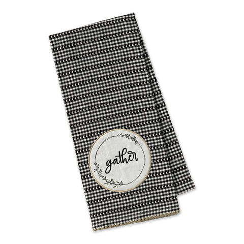 Gather Wreath Embellished Dishtowel