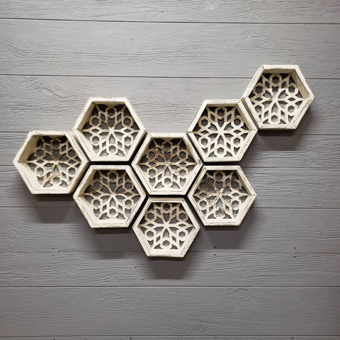 Honeycomb Floating Shelf