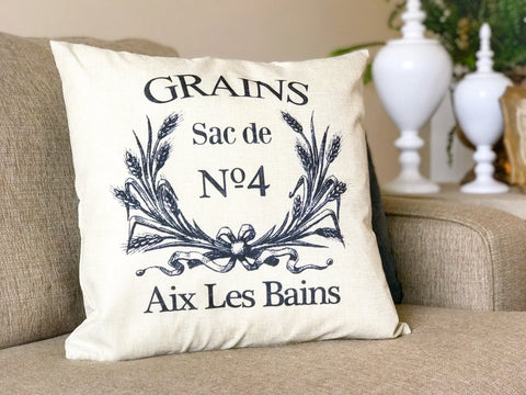 Decorator Throw Pillow - Grains Sac de No 4