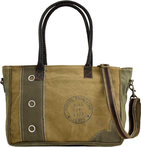 Postes Francais Paris Zipped Tote