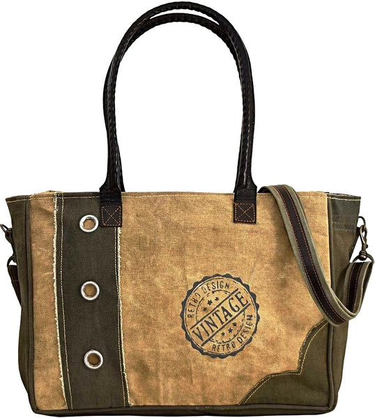 Vintage Life Zipped Tote