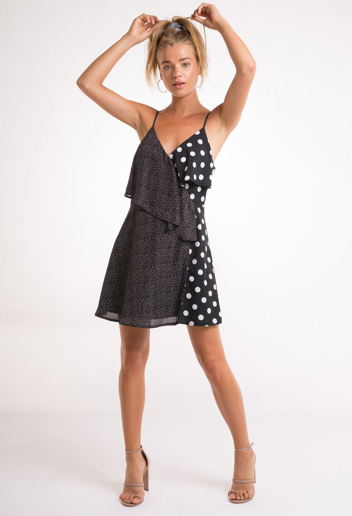 Mixed Polka Dot Dress