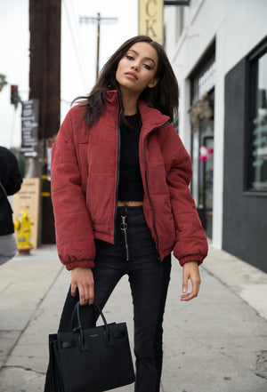 Aubrey Corduroy Puffy Jacket