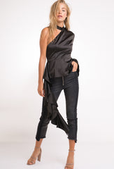 Carrie  Asymmetric  Taffeta  Blouse