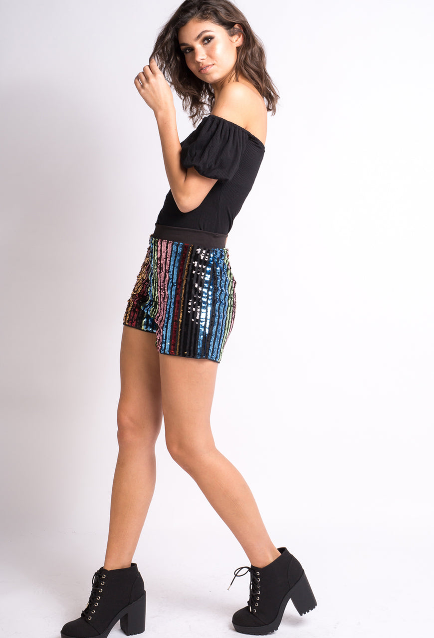 Baby  Multi  Color  Sequin  Shorts