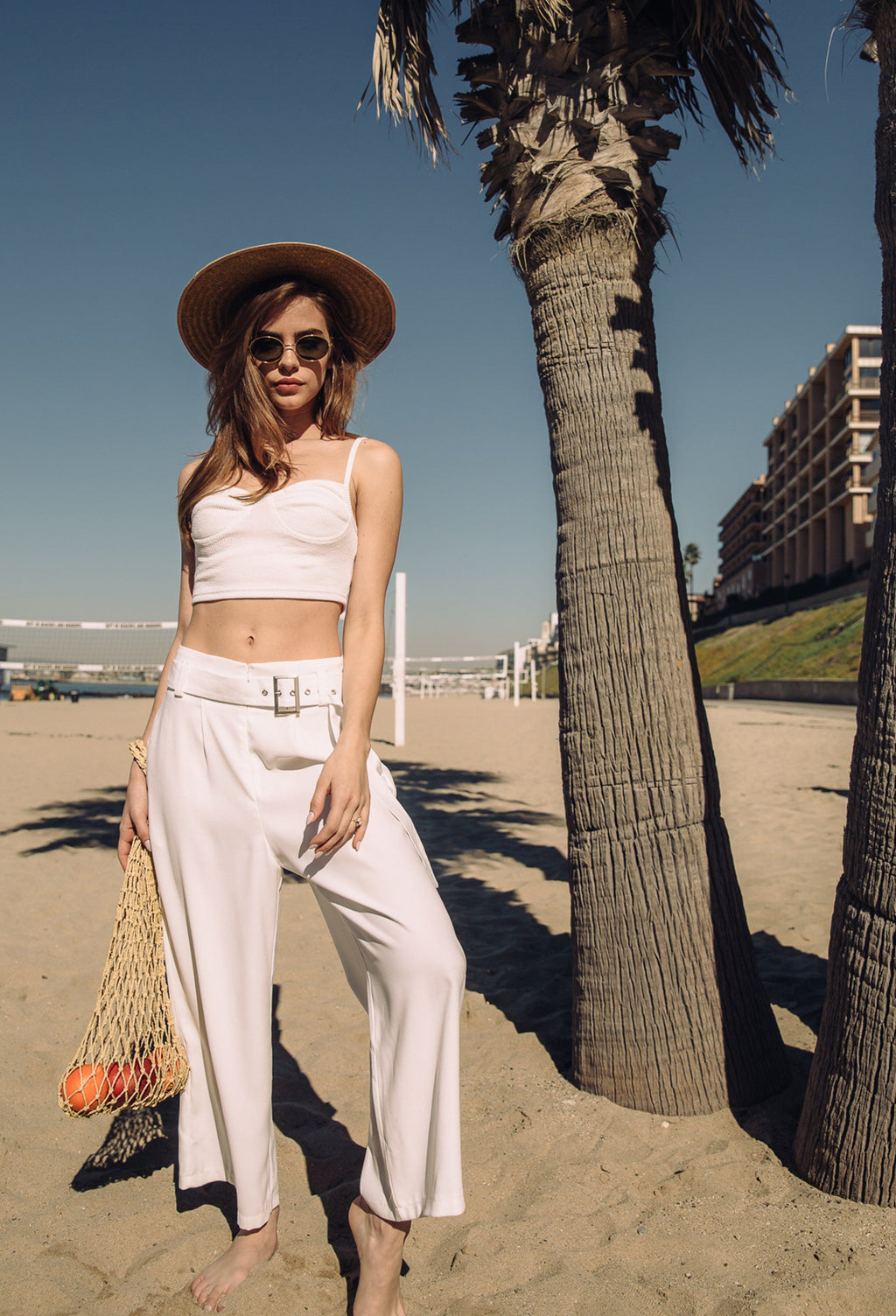 Bottoms - Cropped Pant With Belt