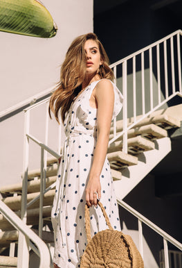 Dress - Polka Dot Wrap Dress
