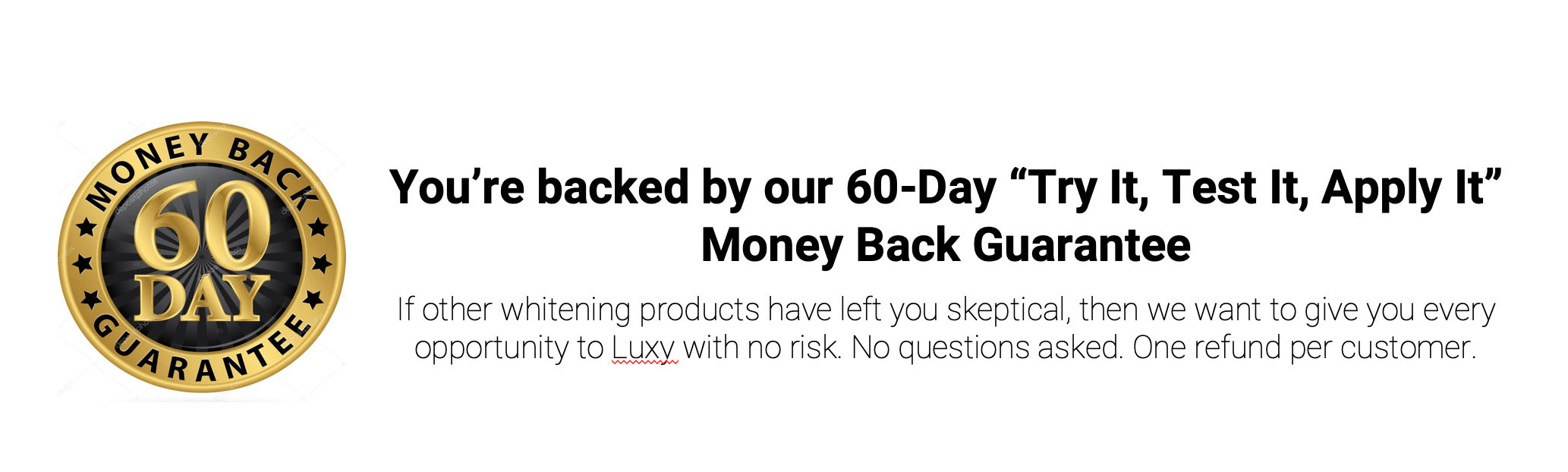 luxy 60 day guarantee