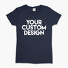 Custom X-Small T-Shirt (Gildan 2000L Navy)
