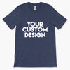 Custom X-Small T-Shirt (Bella 3001 Heather Navy)