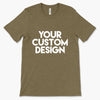 Custom Medium T-Shirt (Bella 3001 Heather Olive)