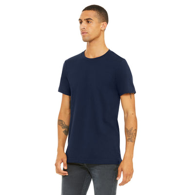 Custom Small T-Shirt (Bella 3001 Heather Navy)