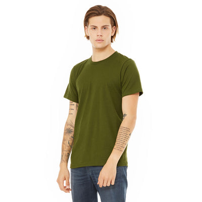 Custom X-Small T-Shirt (Bella 3001 Heather Olive)